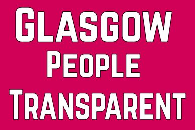 "Logo reading ""Glasgow People Transparent"""
